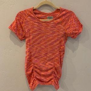 Athleta Pink & Orange Fastest Track Tee S